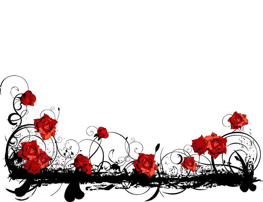 Red Rose Border Clip Art