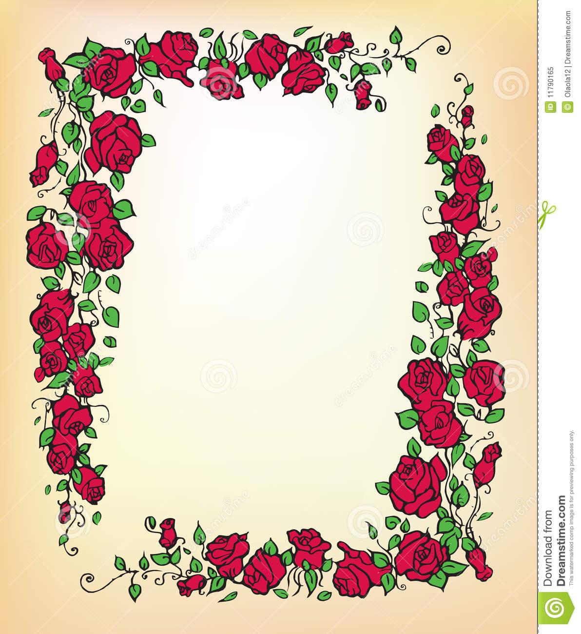 Red Rose Border Clip Art-Red Rose Border Clip Art-12