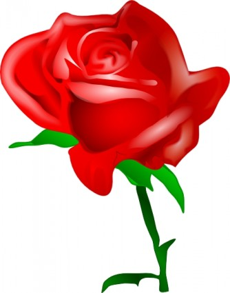 Red Rose Clip Art Vector Clip Art - Free-Red Rose clip art Vector clip art - Free vector for free download-15