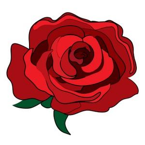 Red Rose Clipart Image-Red Rose Clipart Image-14