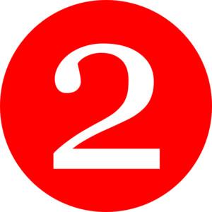 Red, Rounded,with Number 2 .-Red, Rounded,with Number 2 .-13