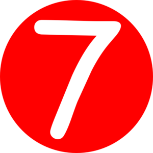 Red Roundedwith Number 7 Clip Art-Red Roundedwith Number 7 Clip Art-18