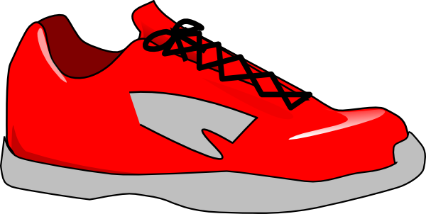 Red Shoe Clip Art At Clker Co - Clipart Of Shoes