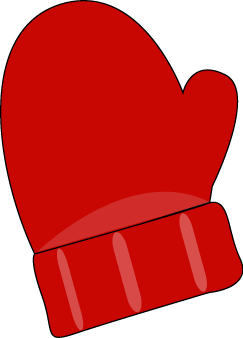 Red Single Mitten - Mittens Clipart