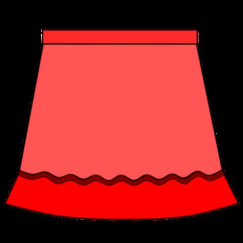 Red Skirt Vector Drawing-Red skirt vector drawing-12