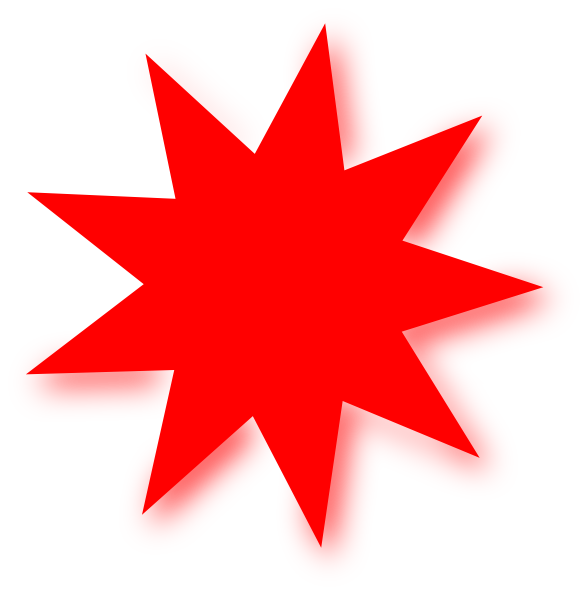 Red Star clip art - vector clip art online, royalty free public