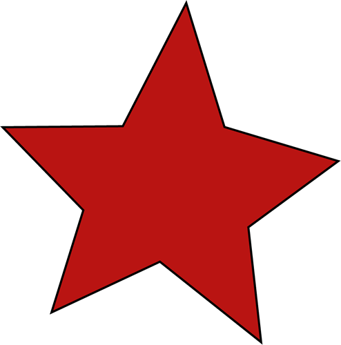 Red Star - Star Clip Art