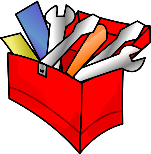 Red Toolbox Full Clip Art At  - Toolbox Clipart