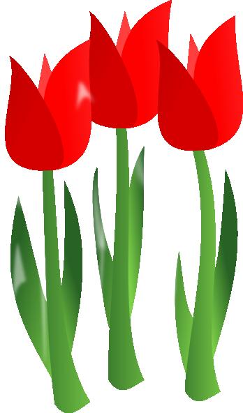 Red Tulips Clip Art At Clker Com Vector Clip Art Online Royalty