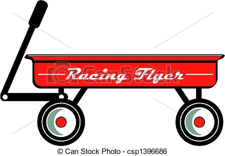 Red Wagon Retro Vintage Clip Art - Red W-Red Wagon Retro Vintage Clip Art - Red wagon toy or childs.-12