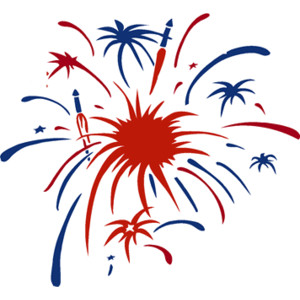 Red white and blue fireworks clipart free - ClipartFest