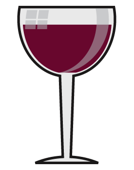 Red Wine Glass Clipart Image