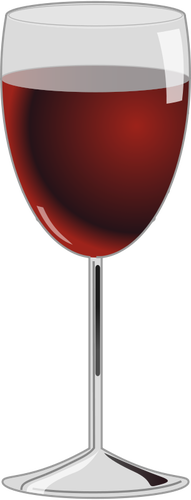 Red wine glass vector graphics