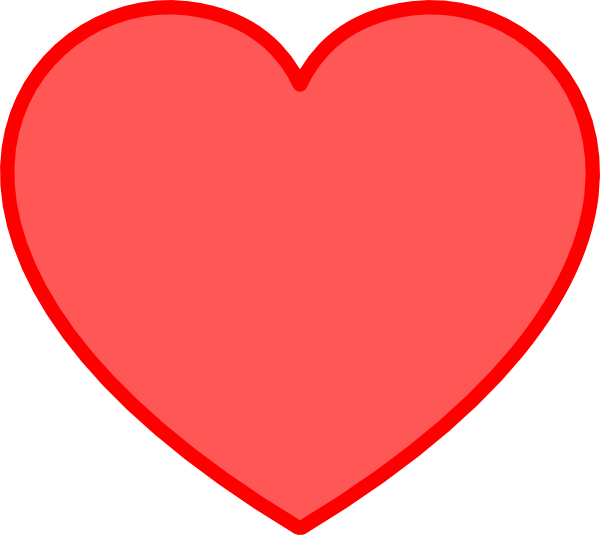 Red With Red Heart Clip Art .-Red With Red Heart clip art .-17
