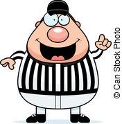 Referee Making Call - A happy cartoon re-Referee Making Call - A happy cartoon referee making the.-8