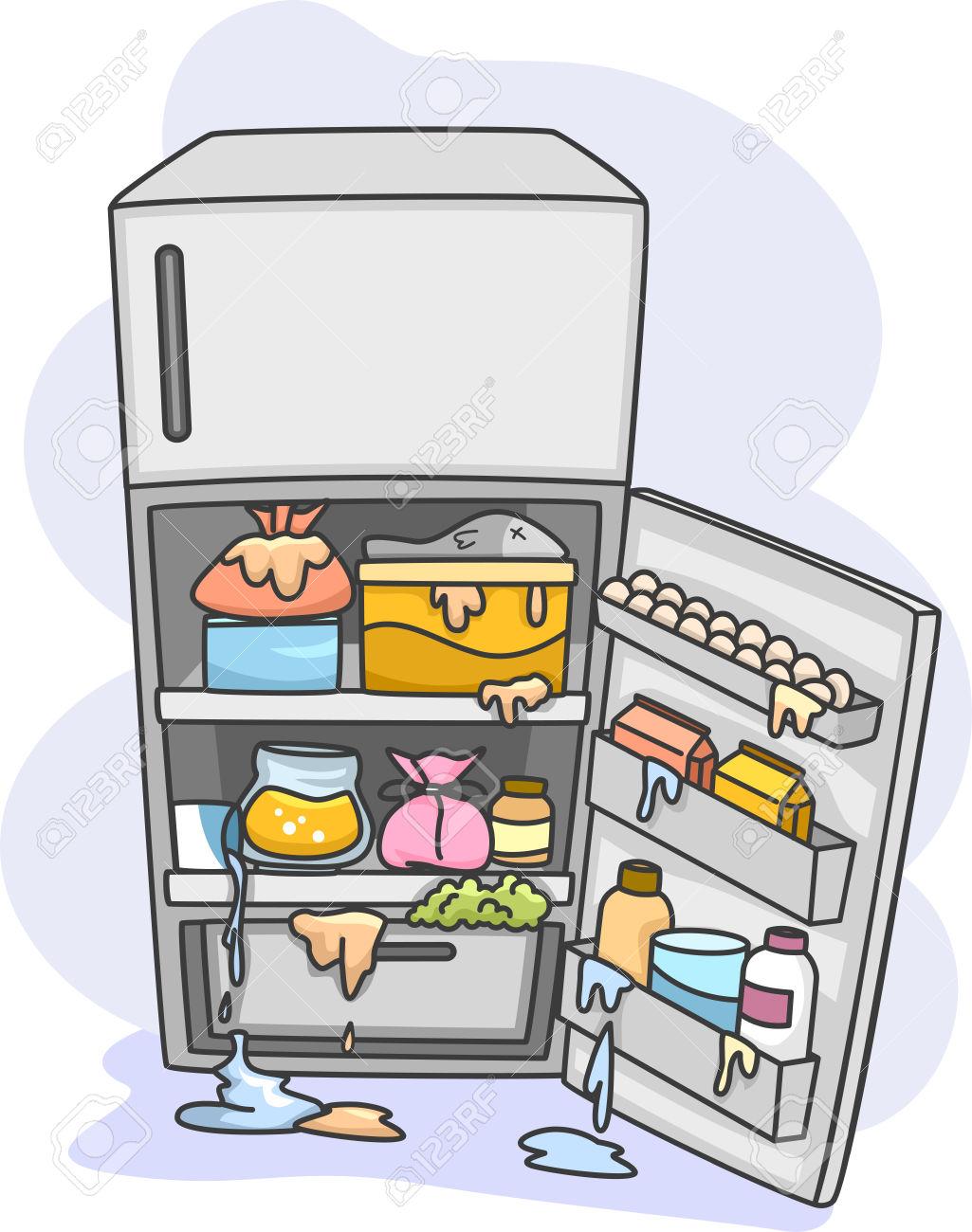 Messy Refrigerator