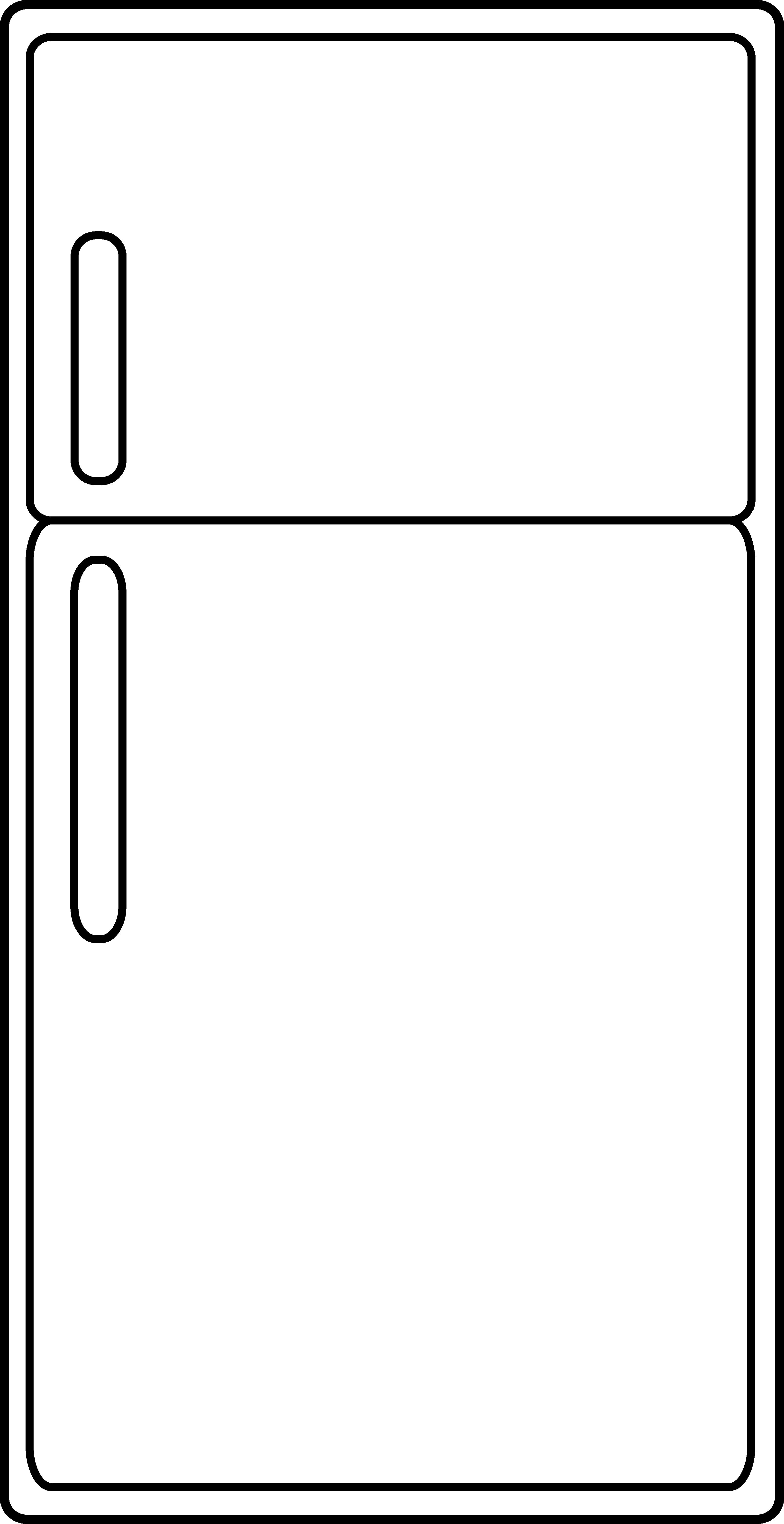 Refrigerator Clipart Refrigerator Outline Image