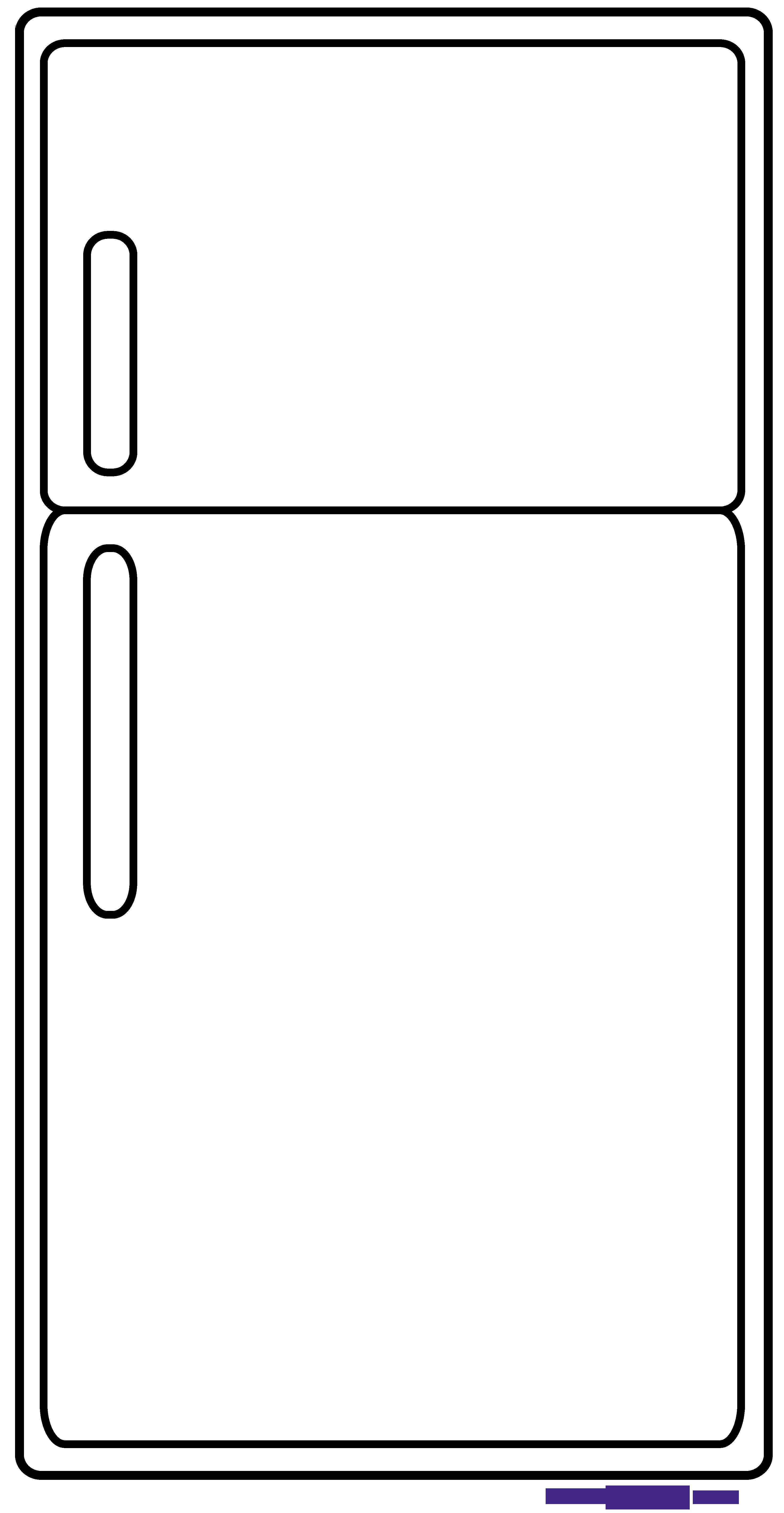 Refrigerator Outline Clipart