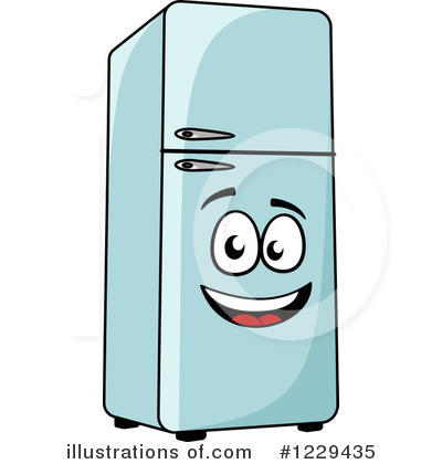 Royalty-Free (RF) Refrigerator Clipart Illustration by Vector Tradition SM  - Stock Sample