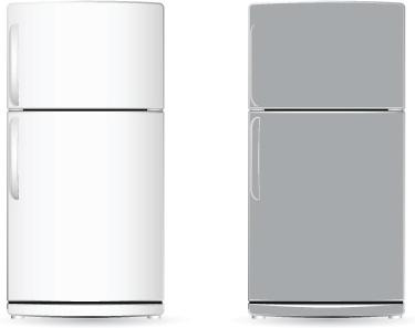 set of home appliances refrigerator design vector