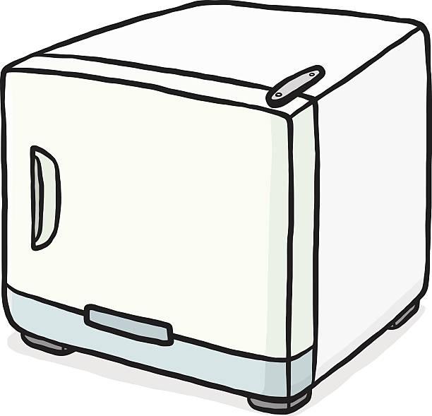 small refrigerator vector art illustration