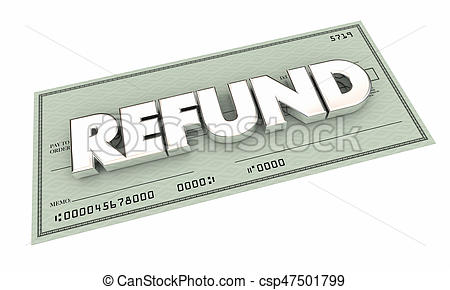 Refund Check Rebate Money Back Payment 3-Refund Check Rebate Money Back Payment 3d Illustration-8