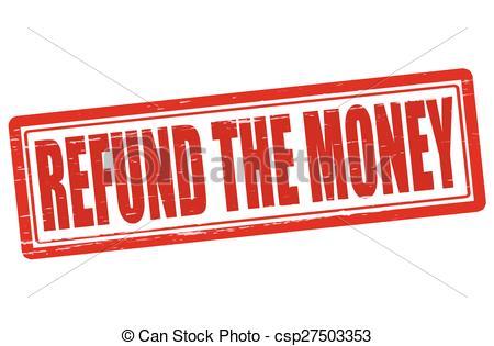 Refund the money - csp27503353