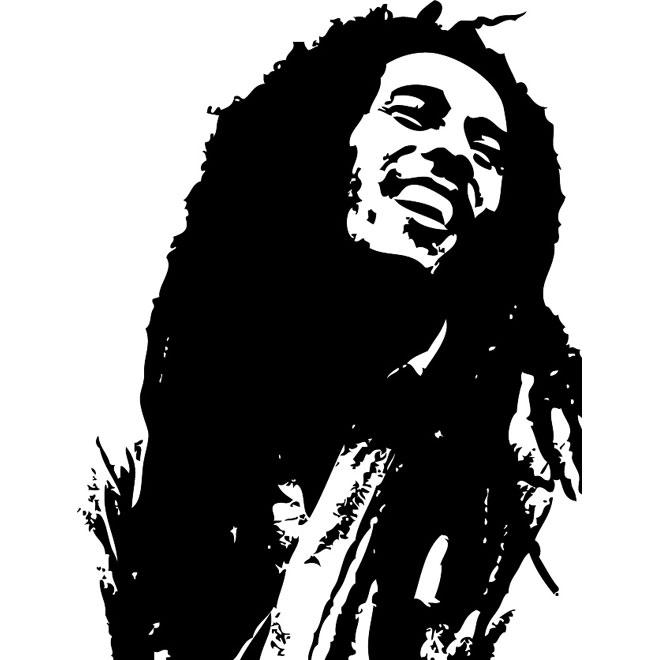 Reggae Clipart. BOB MARLEY VECTOR .