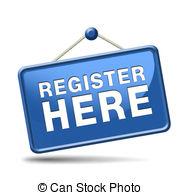 ... register here sign - register here en no sign or icon.... ...