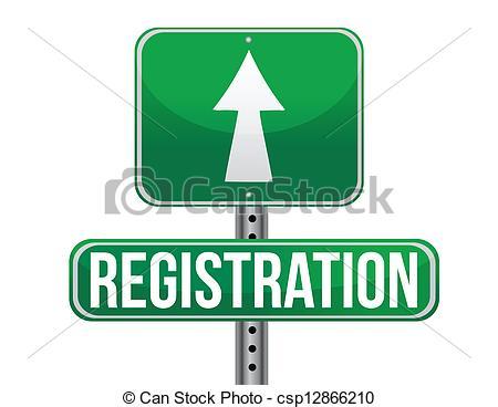 ... registration green traffic road sign illustration design... ...