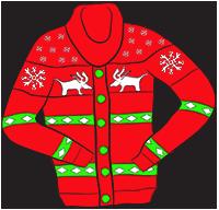 Reindeer cardigan clipart-Reindeer cardigan clipart-5