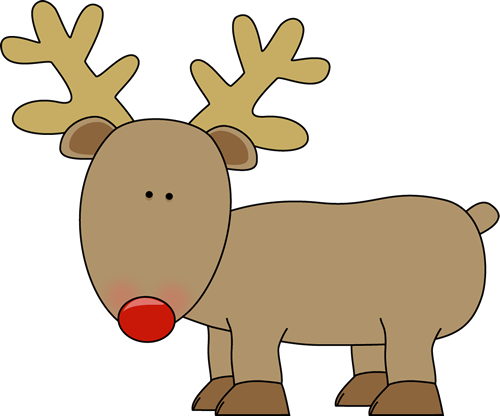 Reindeer Clip Art Cute Reindeer With A Red Nose