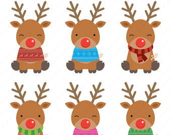 Reindeer Clipart / Christmas Clipart / Christmas Reindeer Clipart