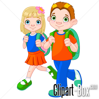 Related Children Going To School Cliparts