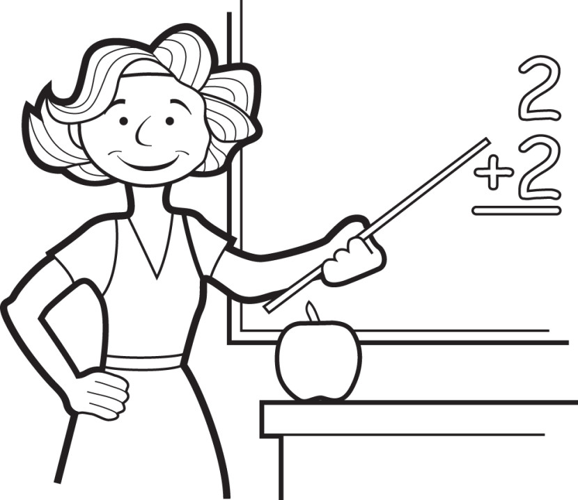 Related This Teacher Clipart Black and White