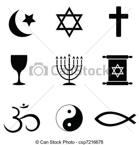 Religious symbols icons - csp7216678