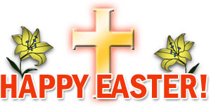 Religious happy easter clipart