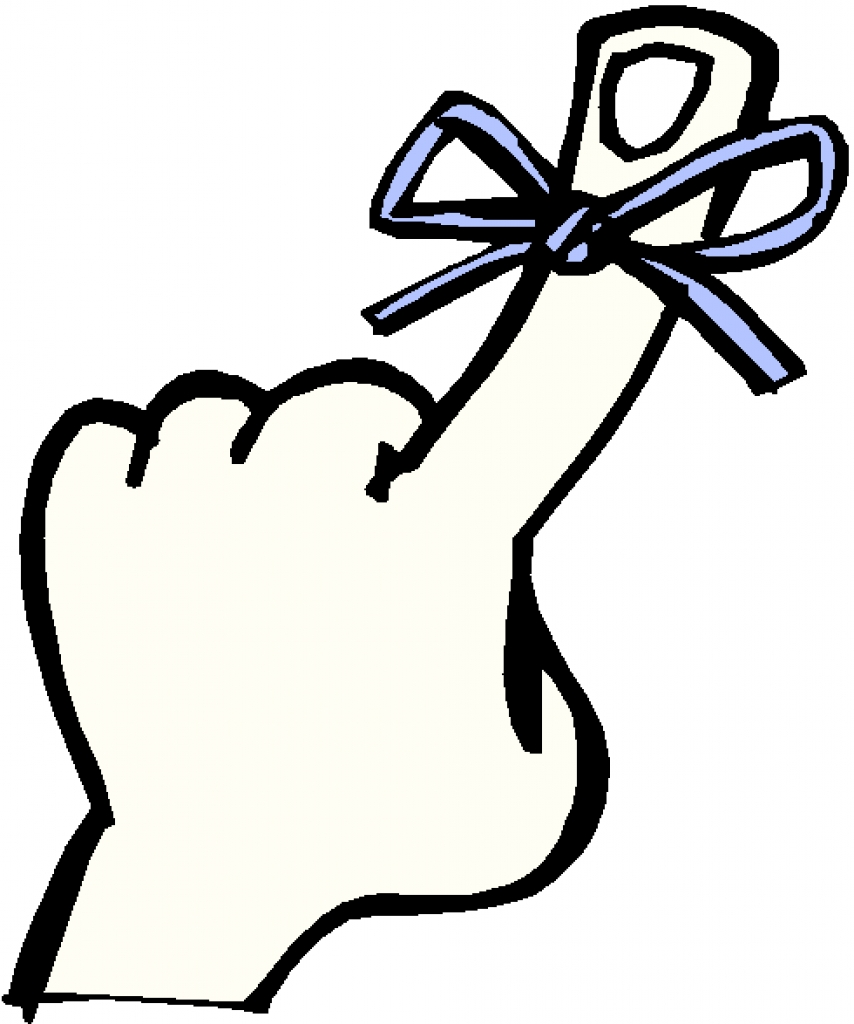 Reminder clipart remember finger with string