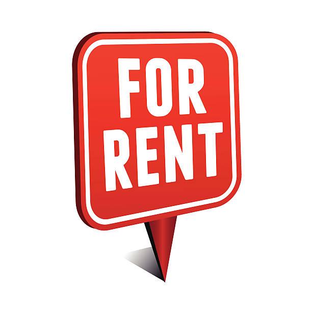 For rent pointer vector art illustration