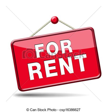 for rent sign - csp16386627