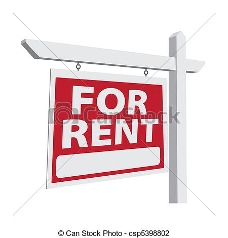 For Rent Vector Real Estate Sign