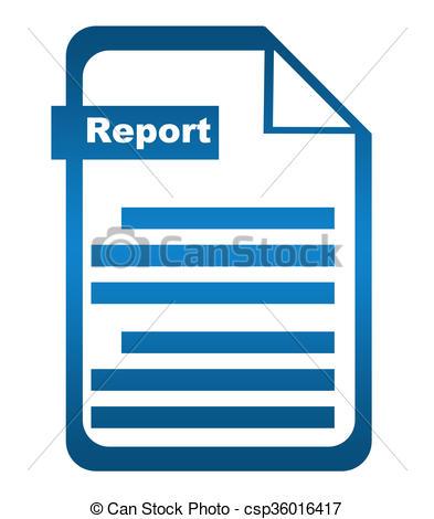 Report Blue Icon - Csp36016417-Report Blue Icon - csp36016417-11