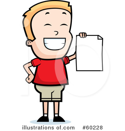 Report Card Clipart 60228 By Cory Thoman Royalty Free Rf Stock