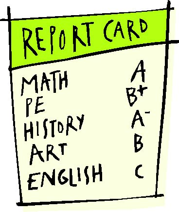REPORT CARDS ALREADY!