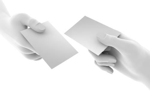 Representation Of The Hand Exchange Busi-Representation Of The Hand Exchange Business Cards-13