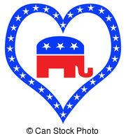 Republican Elephant Mascot USA Flag Clipartby patrimonio6/300; Republican