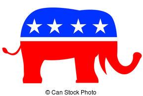 ... Republican Elephant Mascot USA Flag - Illustration of a.
