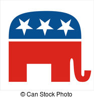 ... republicans - very big size republicans party elephant... ...
