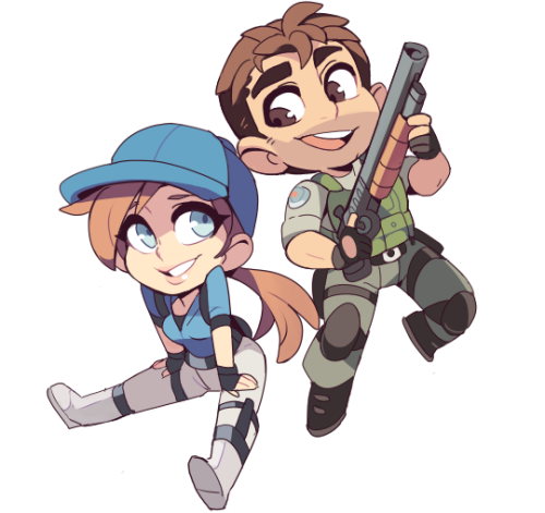 BSAA members are drawn by an adorable style! I canu0027t believe they come from  a legendary survival horror franchise!