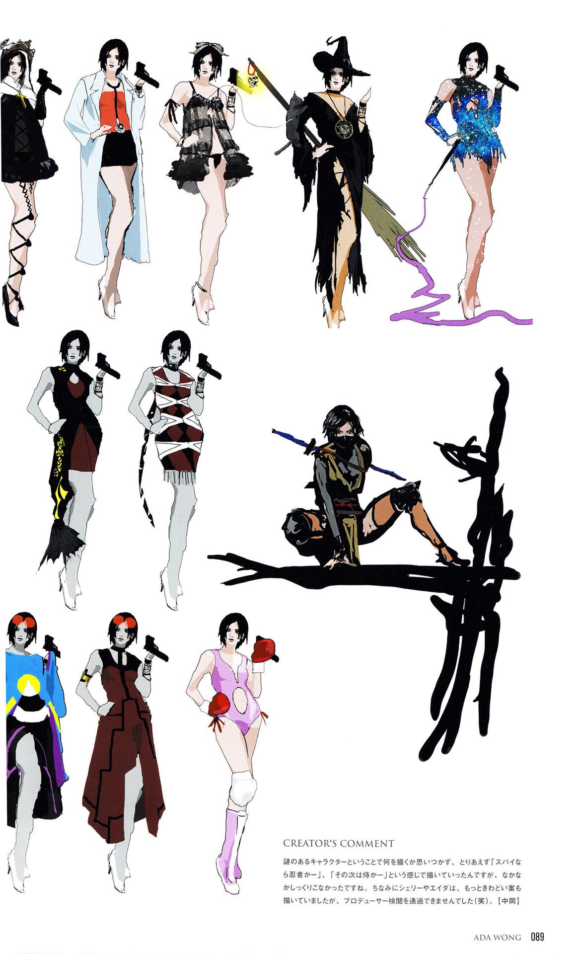 CREATORu0027S COMMENT 謎のあるキャラクターということで何を描くか思いつかず、